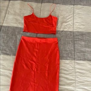 Forever 21 Coral two piece set